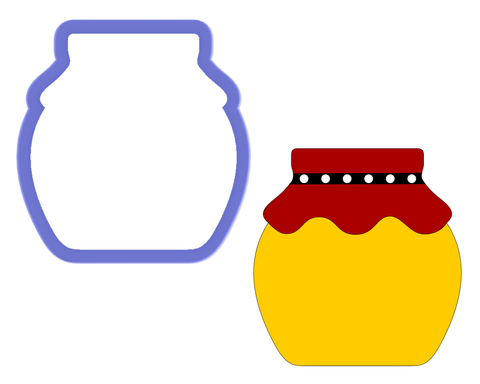Jar-Honey, Cookie, Baby Food-Cookie Cutter