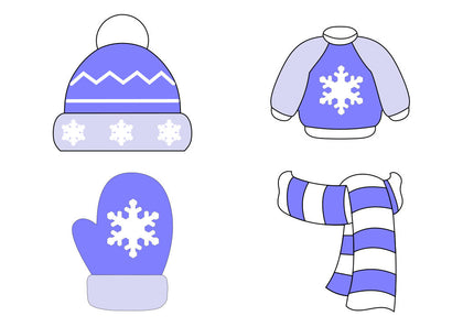 Winter Clothes Cookie Cutter Set