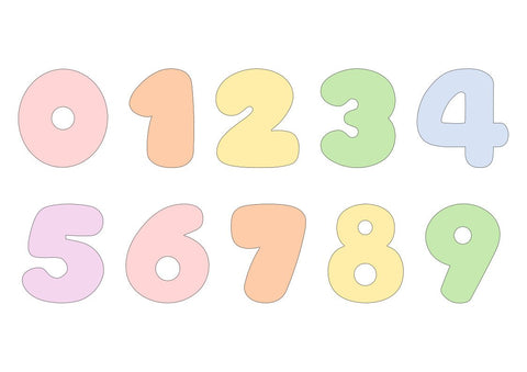 Chubby Numbers 0-9 Cookie Cutter Set