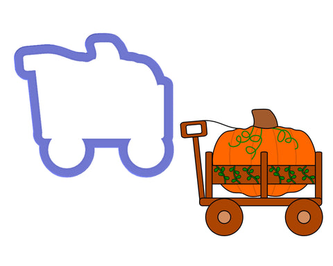 Pumpkin in Wagon #2 Cookie Cutter