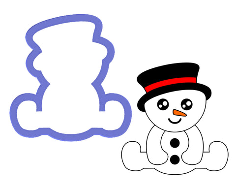 Snowman Sitting Cookie Cutter