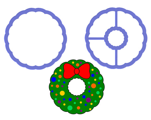 Wreath - Scalloped Circle Cookie Cutter