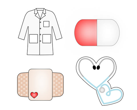 Doctor Cookie Cutter Set