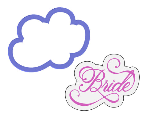 Bride Script Outline Cookie Cutter