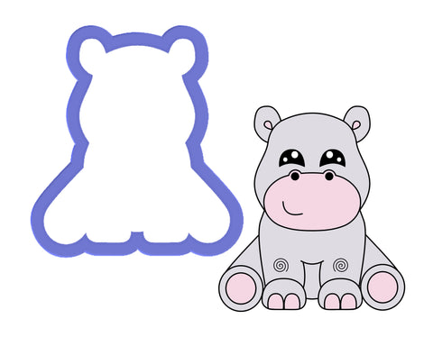 Hippo Sitting Cookie Cutter