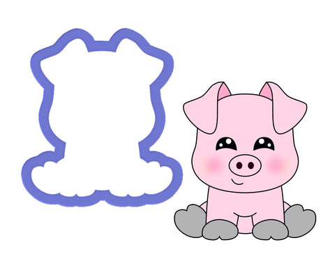 Pig Sitting #2 Cookie Cutter
