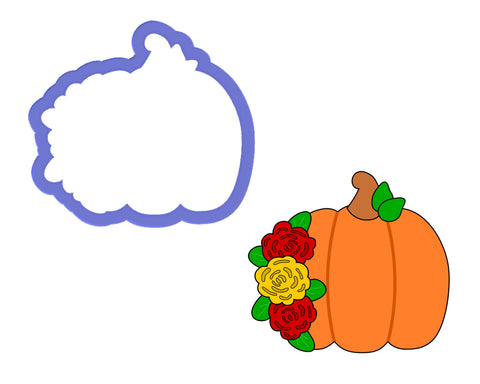 Pumpkin with Flowers Cookie Cutter