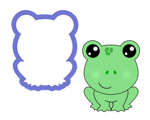 Frog Sitting Cookie Cutter