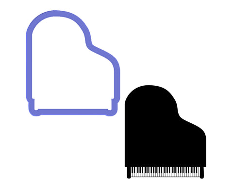 Grand Piano Top View Cookie Cutter