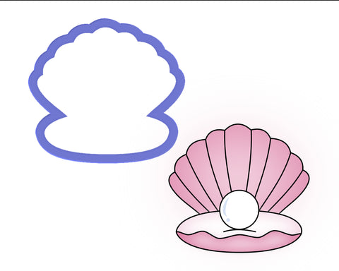 Clam Shell with Pearl Cookie Cutter