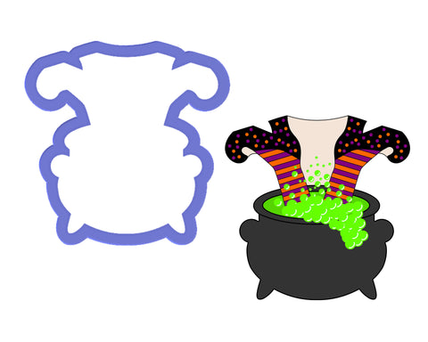 Witch in Cauldron Cookie Cutter