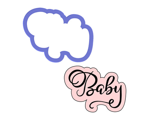 Baby Script Outline Cookie Cutter