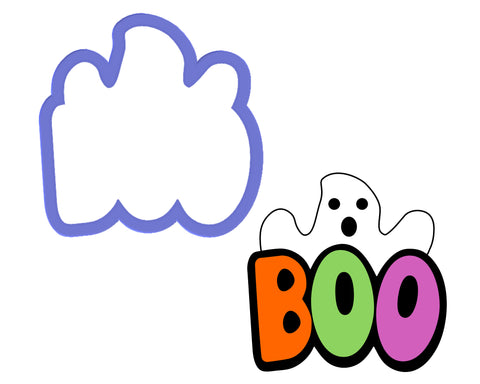 BOO with Ghost Cookie Cutter