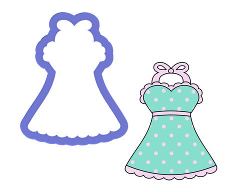 Apron - Lingerie - Night Gown - Party Dress Cookie Cutter