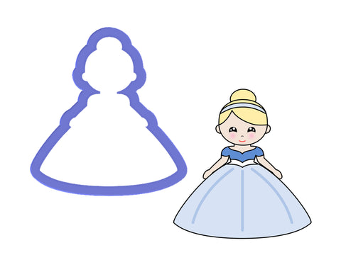 Princess #2 - Girl with Bun Cookie Cutter