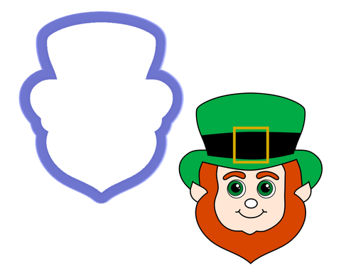 Leprechaun Face - Elf Face - Gnome Face Cookie Cutter