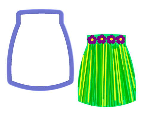 Long Skirt - Hula Skirt - Cookie Cutter