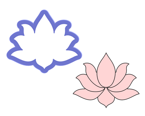 Lotus Flower Cookie Cutter