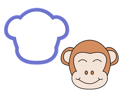 Monkey Face Cookie Cutter