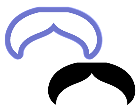 Moustache #1 Cookie Cutter