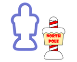 North Pole - Sign Cookie Cutter