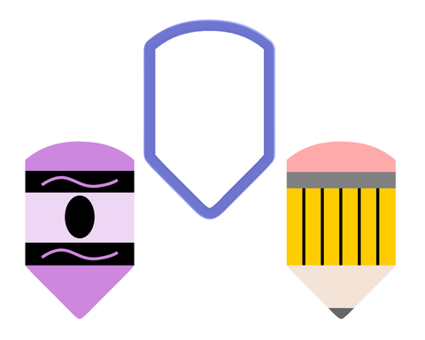 Pencil - Crayon - Cookie Cutter