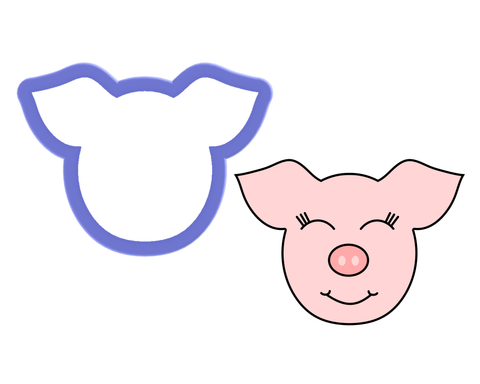 Pig Face Cookie Cutter