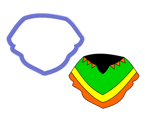 Poncho Cookie Cutter