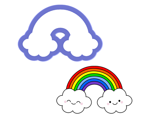 Rainbow with Clouds Cookie Cutter