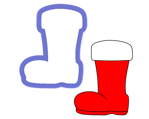 Santa Boot Cookie Cutter