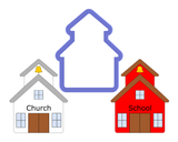 School House - Church - Building Cookie Cutter