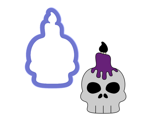 Skull with Candle Cookie Cutter