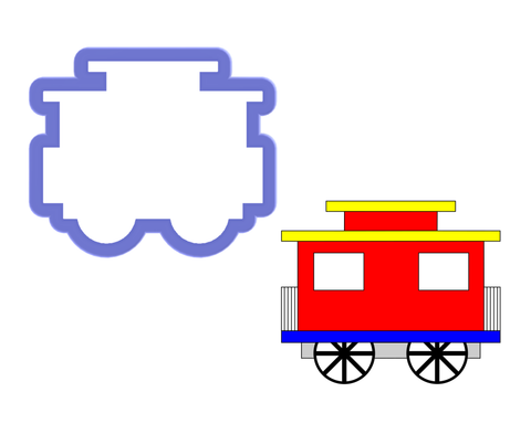 Train Caboose Cookie Cutter