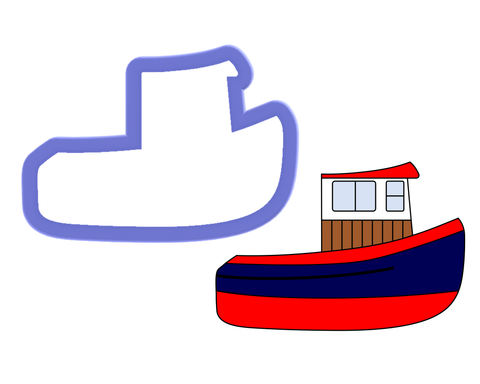 Tug Boat #2 Cookie Cutter