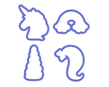 Unicorn Cookie Cutter Set