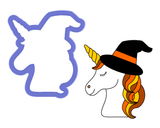 Unicorn Witch Head Cookie Cutter