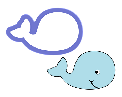 Whale #2 Cookie Cutter