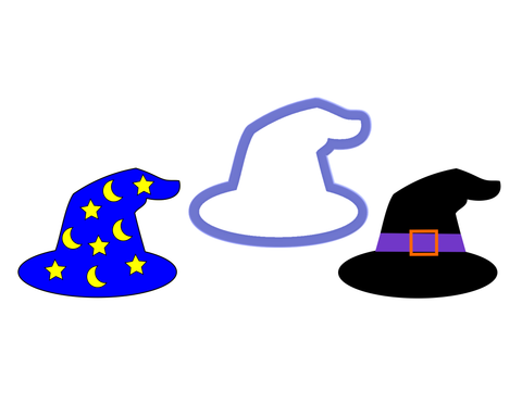Wizard Hat - Witch Hat Cookie Cutter