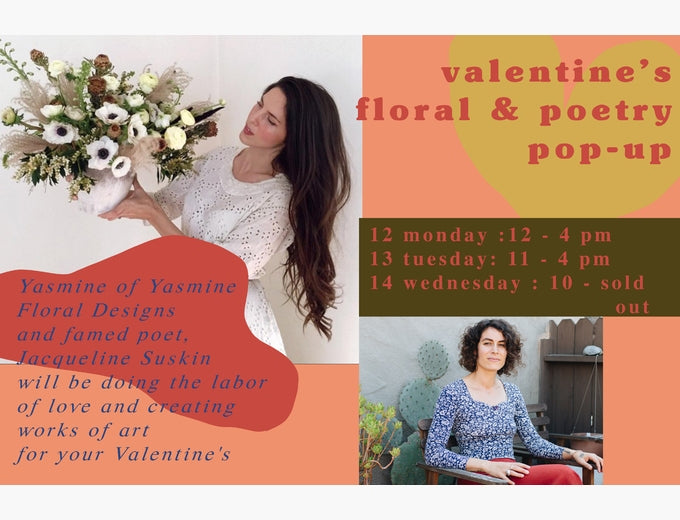 Valentines Floral Poetry Pop Up Individual Medley