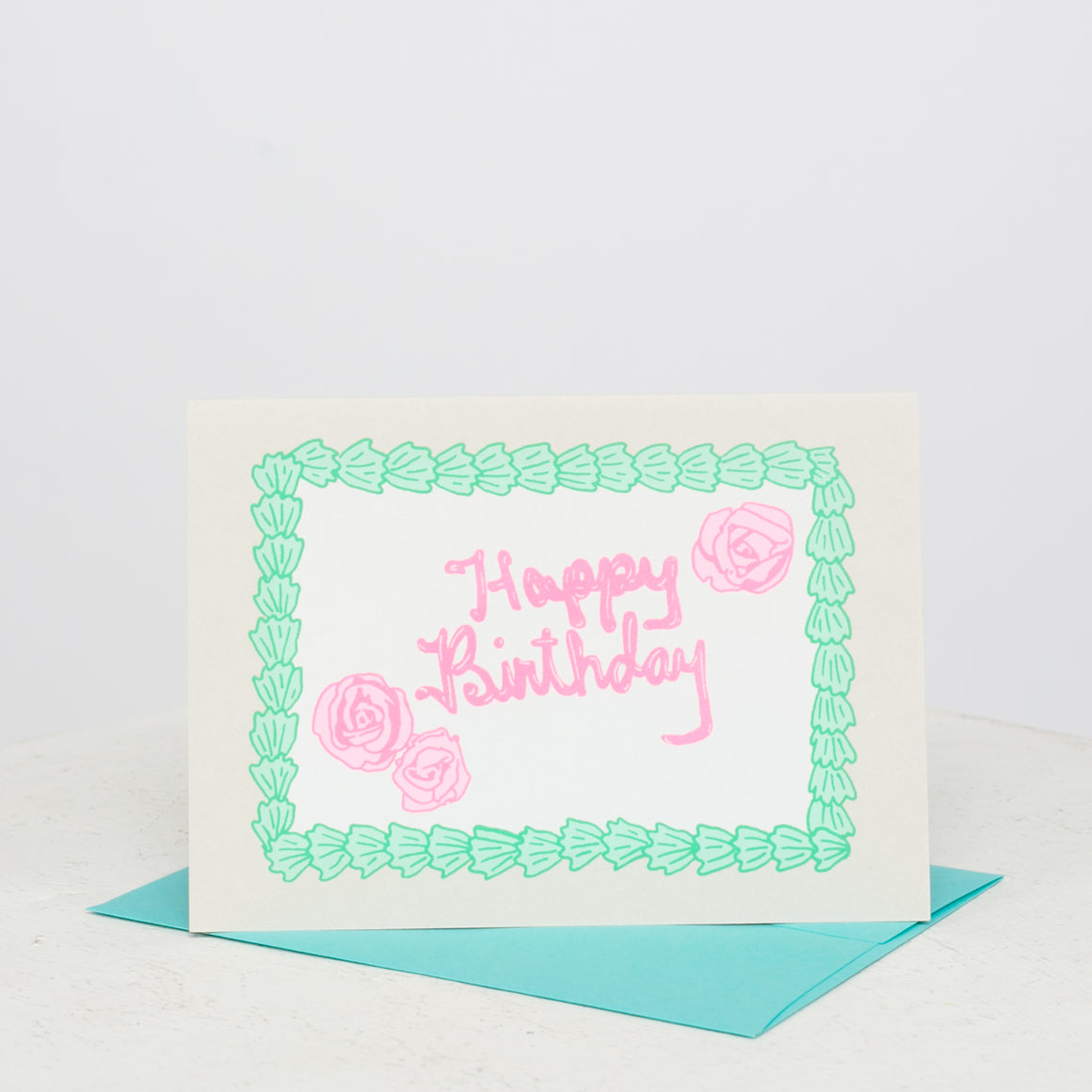 Sheet Cake Birthday Card - individual-medley