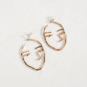 Sister Earrings in Bronze