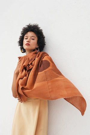 Sunwave Scarf in Terracotta