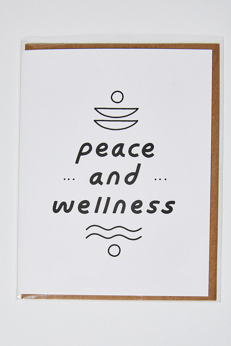 Peace & Wellness Card
