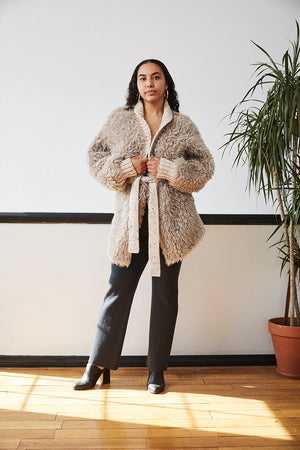 Furry Alpaca Jacket