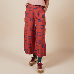 Printed Wide Leg Culottes