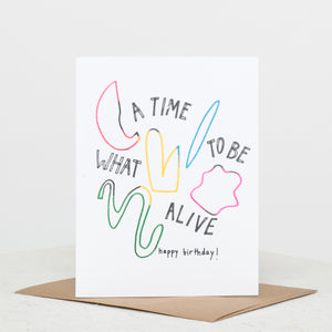 What a Time Birthday Card - individual-medley