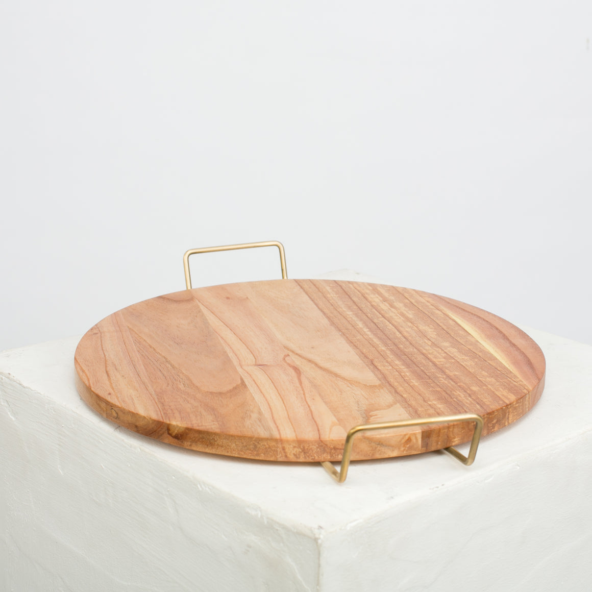 Teak And Brass Tray - individual-medley