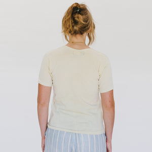 Vintage Light Wool Cream Tee - individual-medley