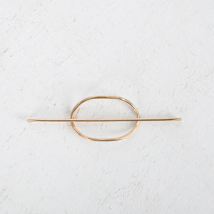 Brass Small Oval with Stick