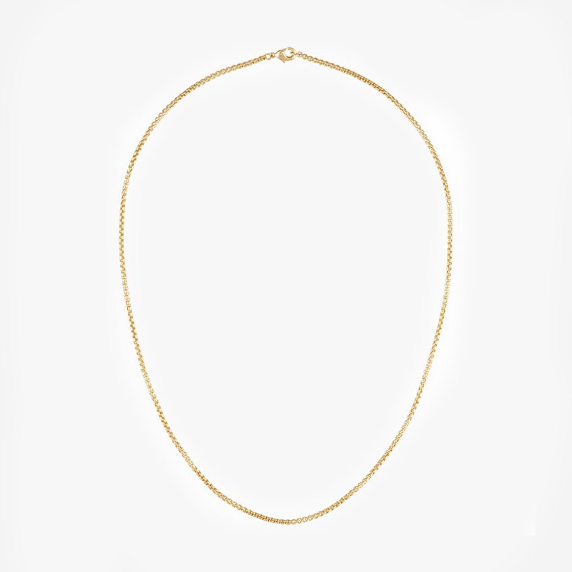 Petite Box Chain Necklace